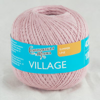 Смесовая пряжа со льном Village /Крестьянка