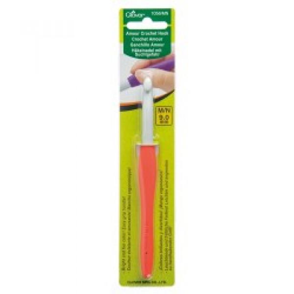 Крючки для трикотажной пряжи Крючок Для Вязания Амур Clover 9,0