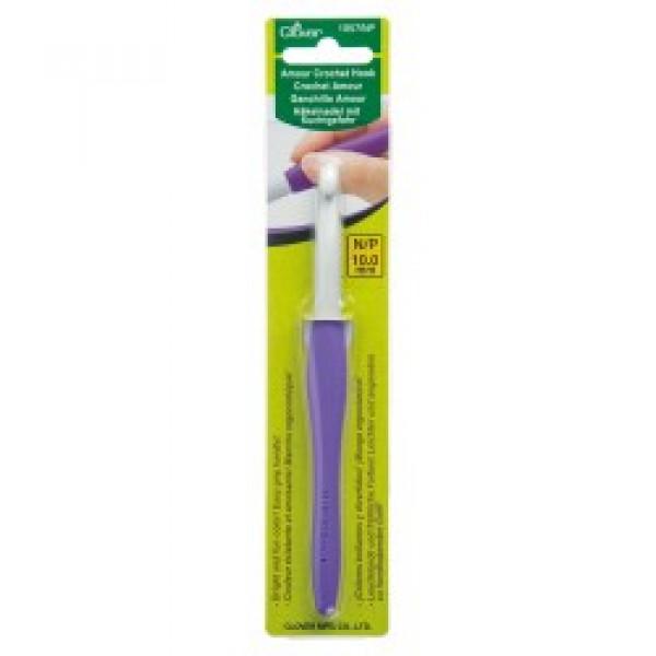 Крючки для трикотажной пряжи Крючок Для Вязания Амур Clover 10,0